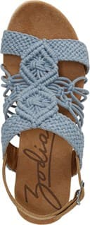 Palm Espadrille Wedge Sandal - Top